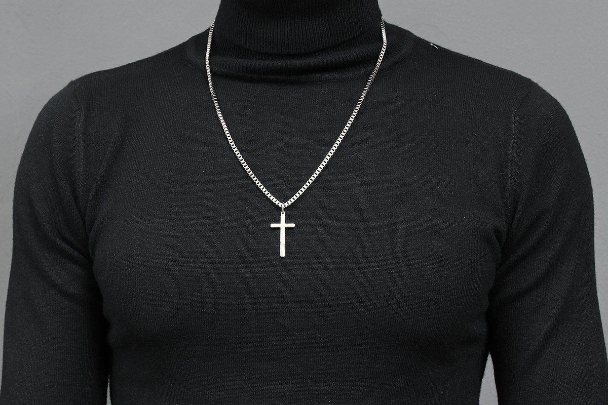 cross gothic pearl silver pendant orthodox sterling square pin